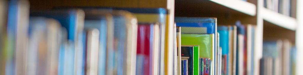 Library shelf full of books